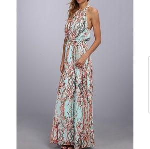 Jessica Simpson cherry blossom halter dress